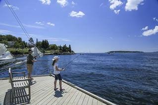 Spruce Point Inn fishing
