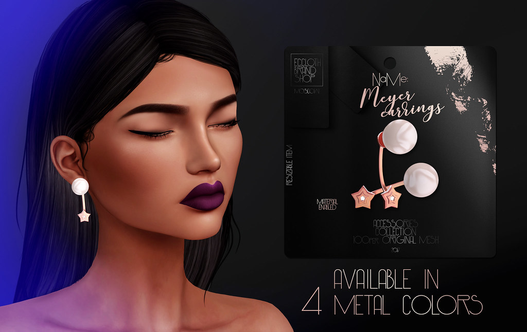 Ec.cloth - Meyer Earrings - Tres Chic 17/01/17 - SecondLifeHub.com