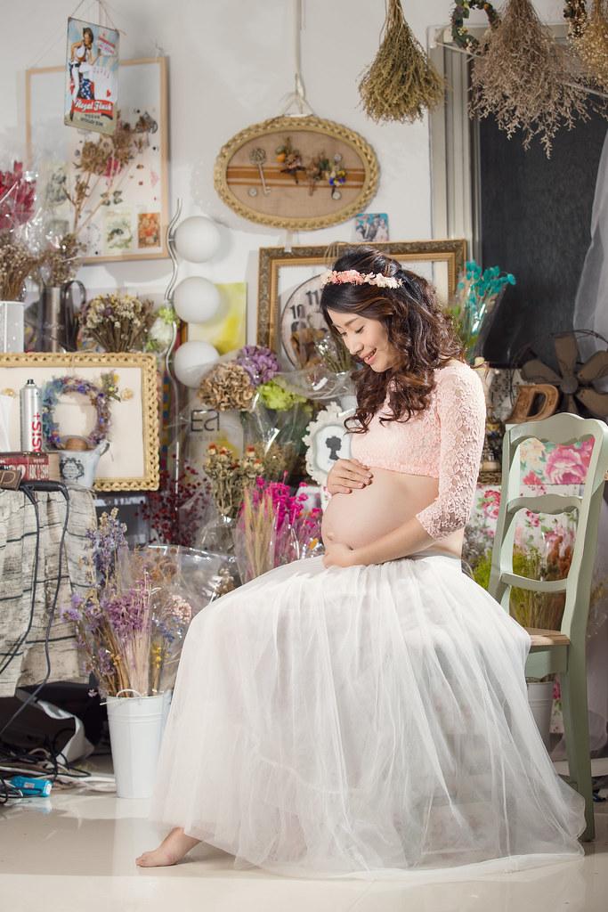 孕婦寫真,孕婦攝影,孕婦棚拍,婚攝卡樂,161217筱琪01