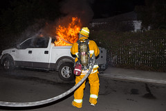 Auto Fire in South Los Angeles