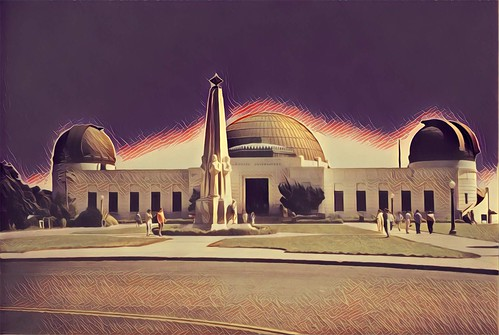 griffith observatory losangeles ca californian astronomy sky dome telescope mount hollywood nrhp register historic hdr process vista pacific ocean tourist 1935 travel attractionsite onasill park