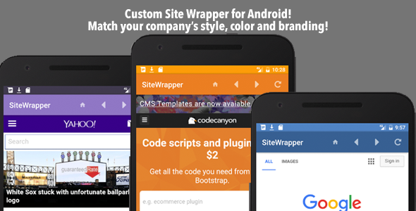 Customizable Site App Android v1.0