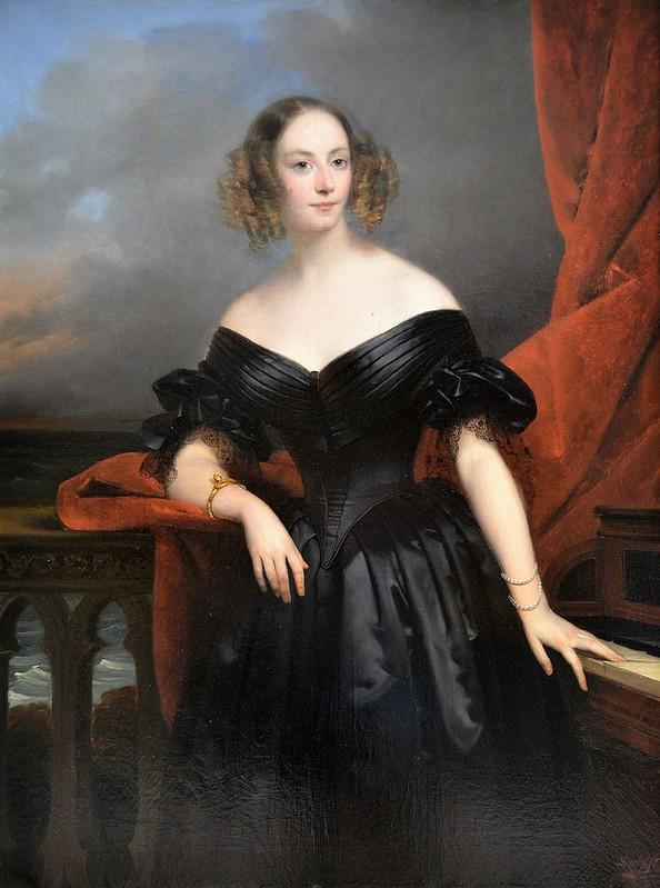 """Rouen (Seine-Maritime) - Musée des Beaux-Arts - """"Portrait de Madame Rampal, Comtesse de Grigneuseville"""" (Claude-Marie Dubufe, 1790-1864)"""