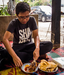 Eating Sate Bulayak