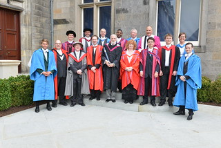 CS staff and students St Andrews Graduation 2015