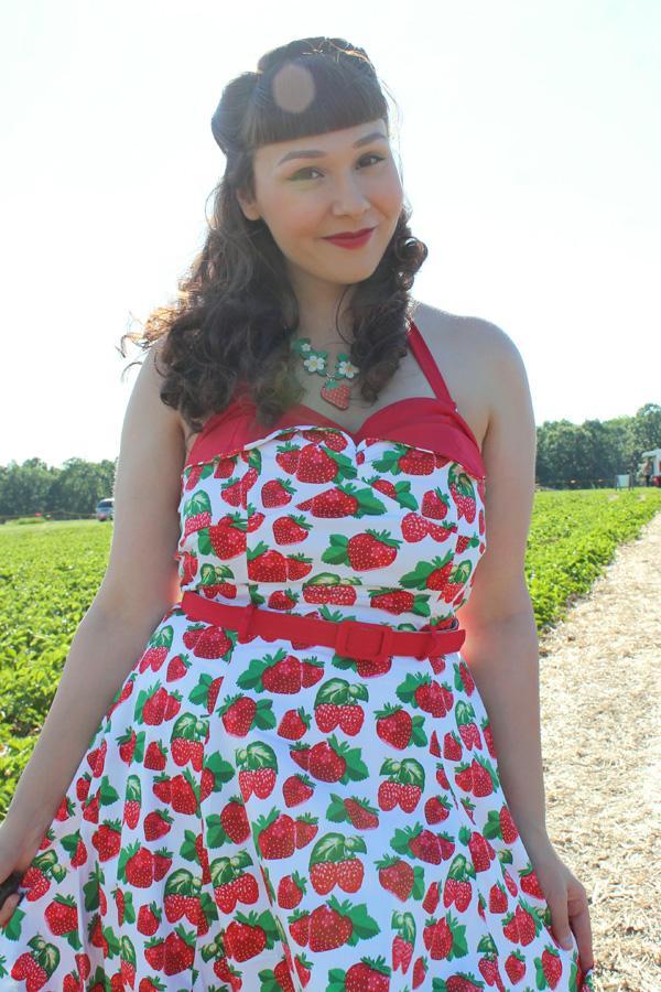 unique vintage strawberry dress