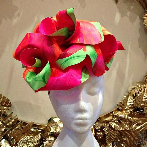 Curl Paper Vivid Flowers Hat
