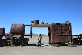 The Train Yard.  Uyuni Salt Flats.  Bolivia.