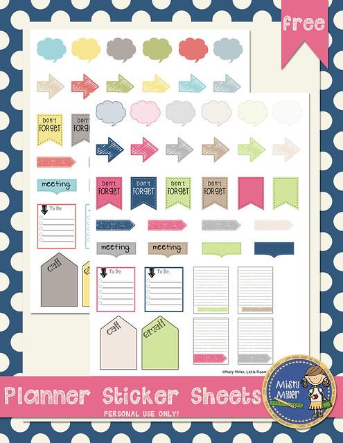 planner sticker sheets