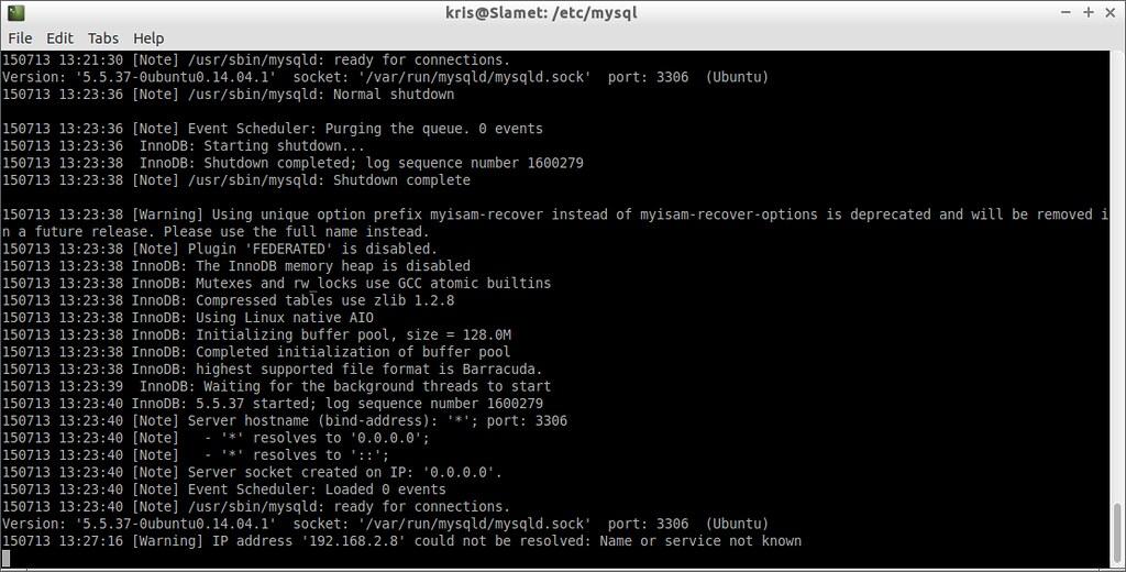 MySQL over SSL - error-log