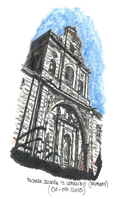 Iglesia de S. Lorenzo el Real en Burgos. Fachada barroca