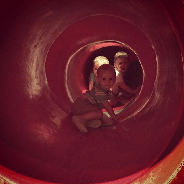 No big deal, we're just hanging out at the science museum colon slide. It rectum a little bit to climb inside. 💩💩 by bartlewife