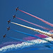 The RAF Red Arrows Make a Tight Turn by Dysartian