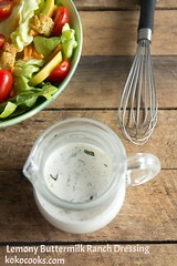 Lemony Buttermilk Ranch Dressing