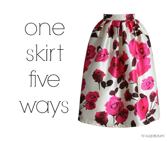 Hi Sugarplum | One Skirt Five Ways