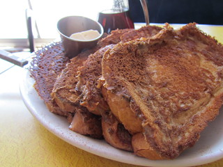 French Toast at Pick Me Up Cafe