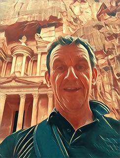 Image of Petra near Petra. selfie treasury petra jordan