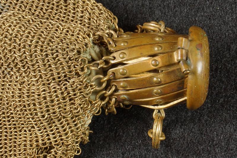 RD9267 Vintage West Germany Brass Expanding Ladies Mesh Link Purse Handbag DSC07886