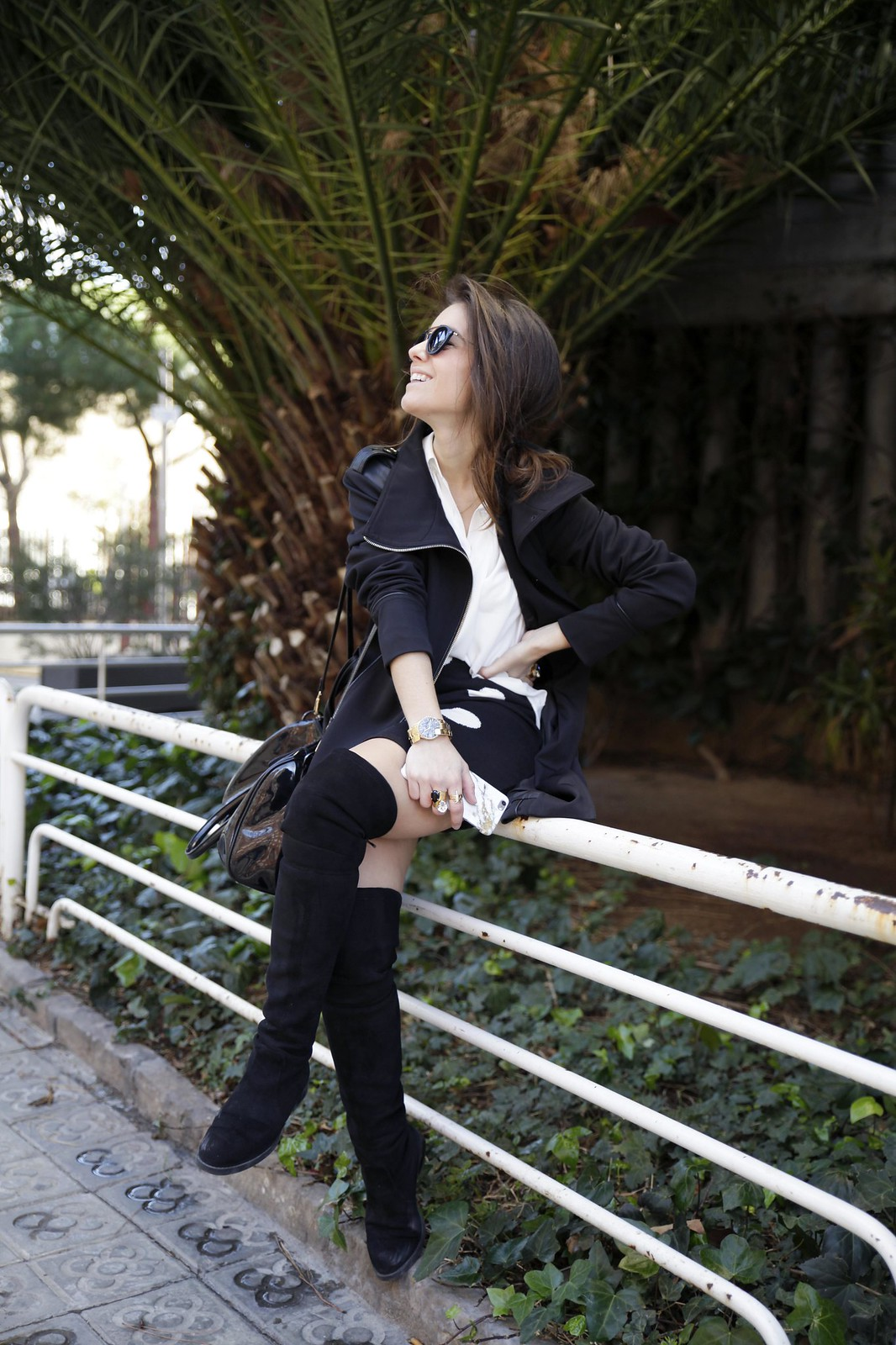 012__skirt_dots_black_and_white_outfit_theguestgirl_ruga_shop_online_long_boots