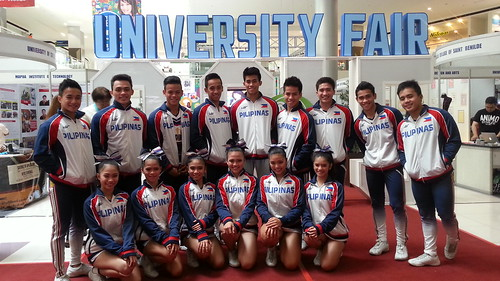 Davao Photos: National University (NU) Pep Squad at SM Davao's University Fair 2015 - DavaoLife.com 20150709_111209(0)