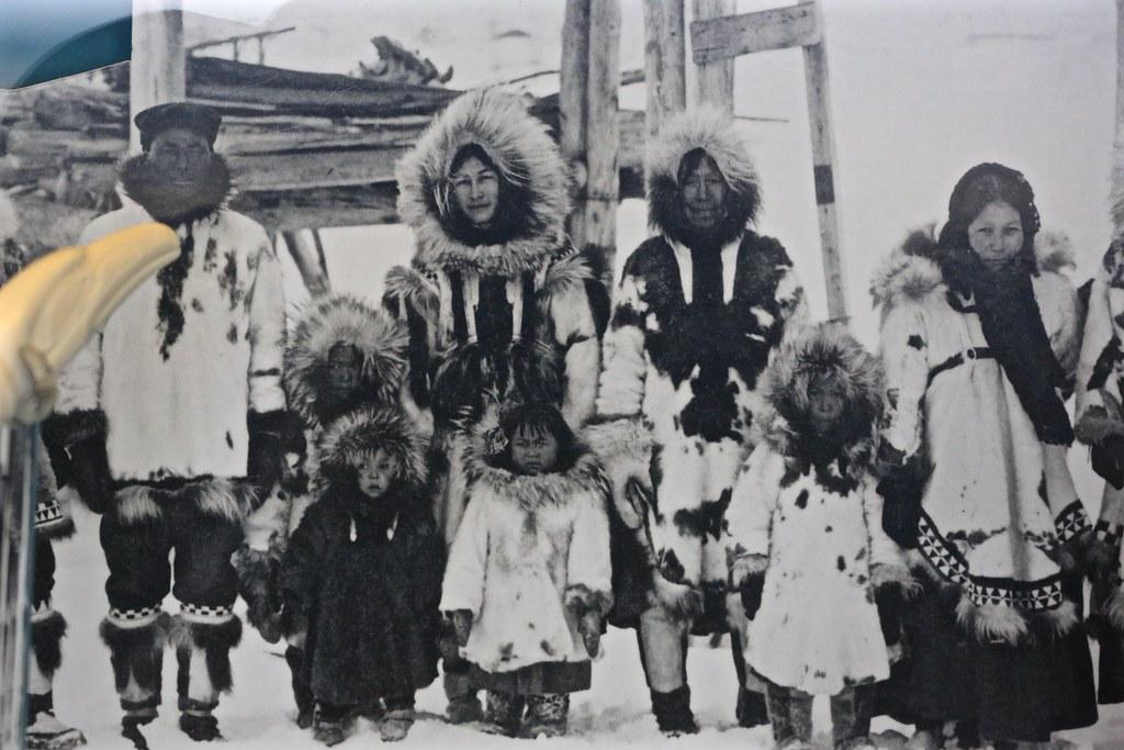 Old Black White Eskimaux Eskimo Family Group Photograp Flickr