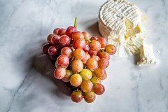 Grapes and Soft Cheese
