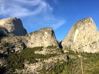 Half Dome and El Capitan