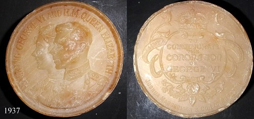 1937 George VI, Coronation soap medal