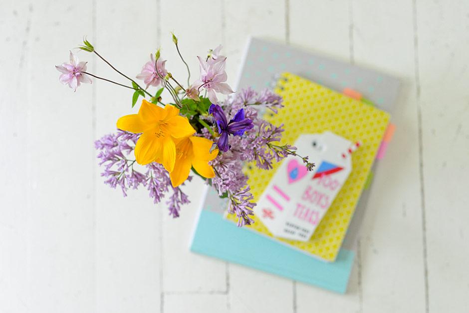 Daylilies, lilacs, aquilegias and iris