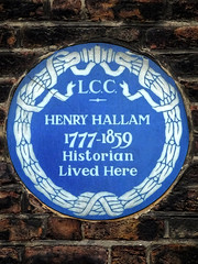 Photo of Henry Hallam blue plaque
