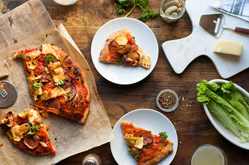 Day 22/365 - Figs and Zucchini Pizza