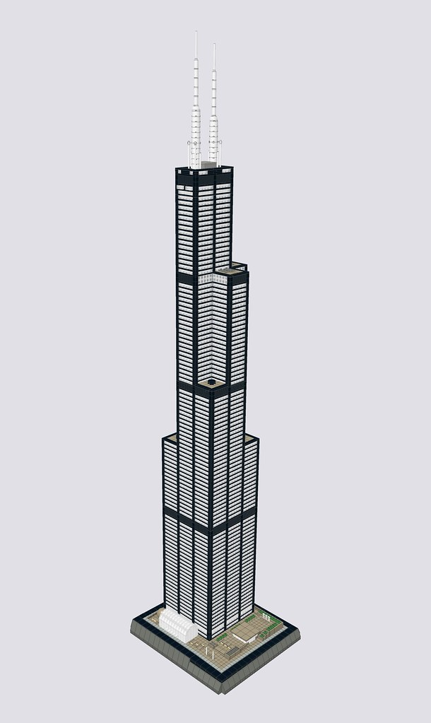 Moc Willis Tower 1410 Special Lego Themes Eurobricks Forums