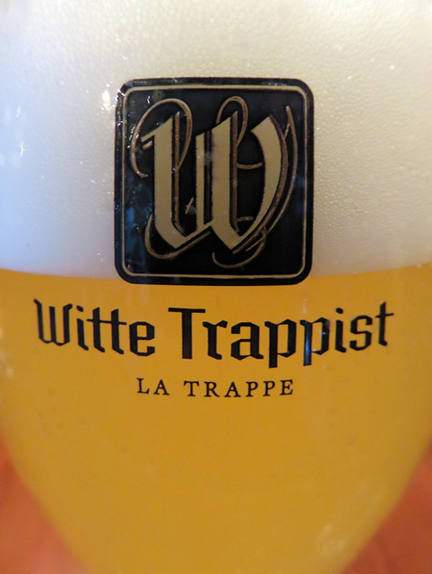Having a Witte Trappist beer at Arendsnest pub in Amsterdam, Holland