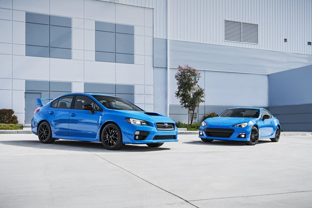 Subaru announces pricing on 2016 Series.HyperBlue BRZ and WRX STI