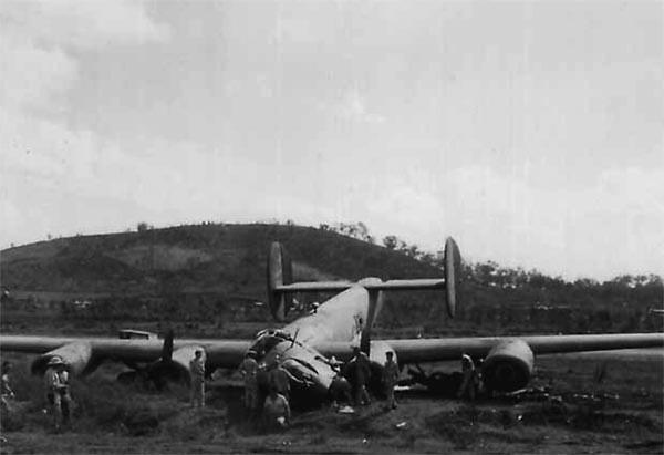 B-24 crack up