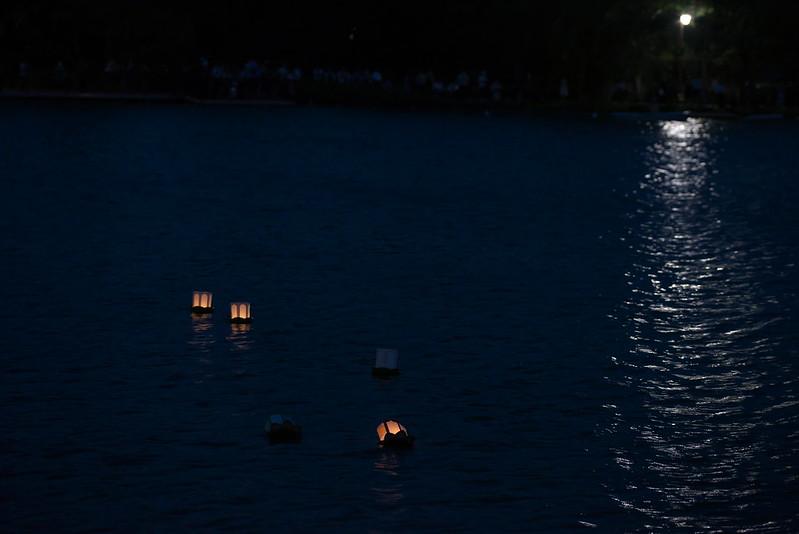 東京路地裏散歩 不忍池 灯篭流し 2015年7月15日
