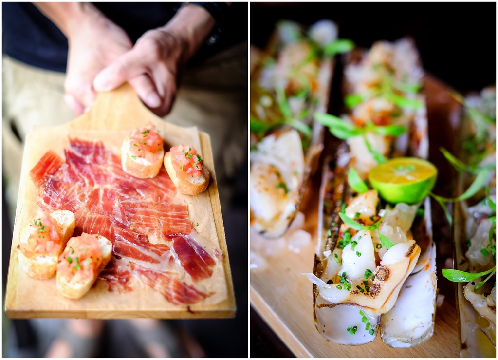 Shelter in the Woods: cold cuts, razor clams and prawns