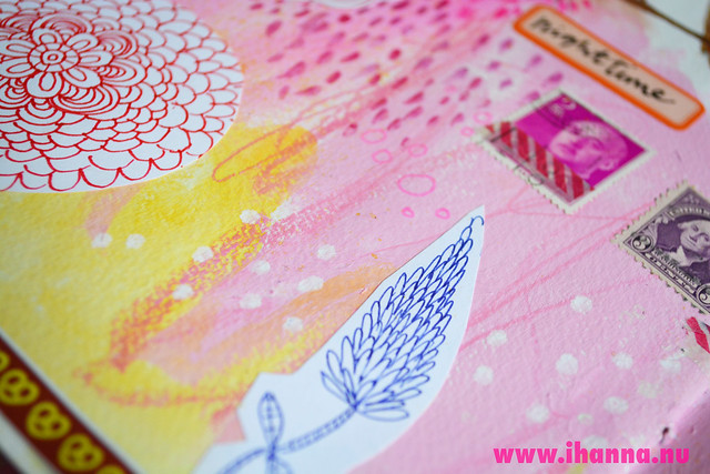 Art Journal detail: Doodles cut out by iHanna