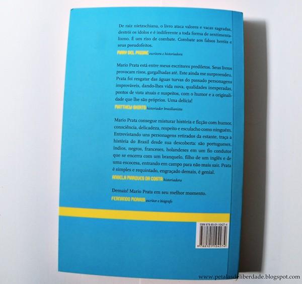contracapa, Resenha, livro, Mario Prata entrevista uns brasileiros, Mario Prata