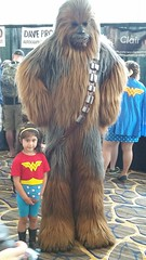 Chewbacca and Lil' Wonder Woman