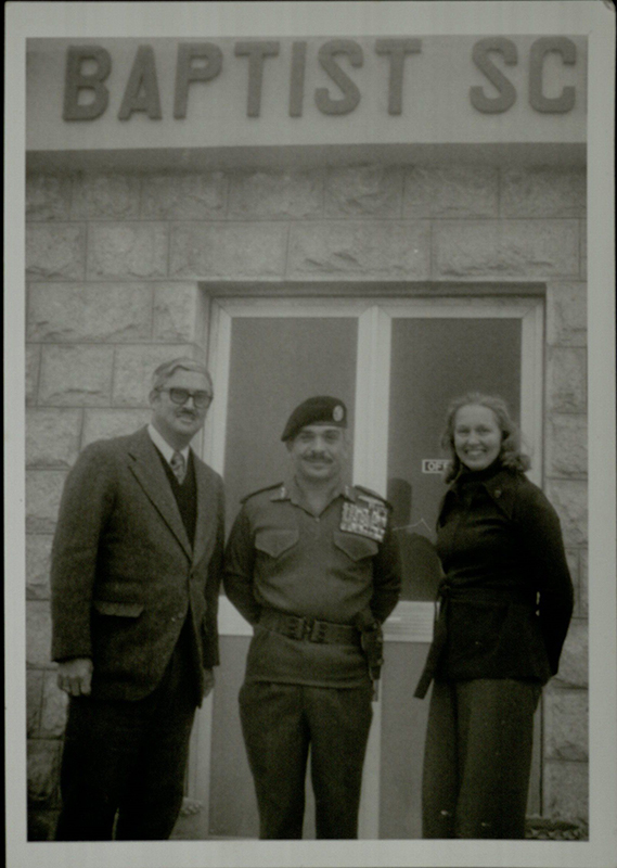 Virginia and Paul Smith with King Hussein, undated