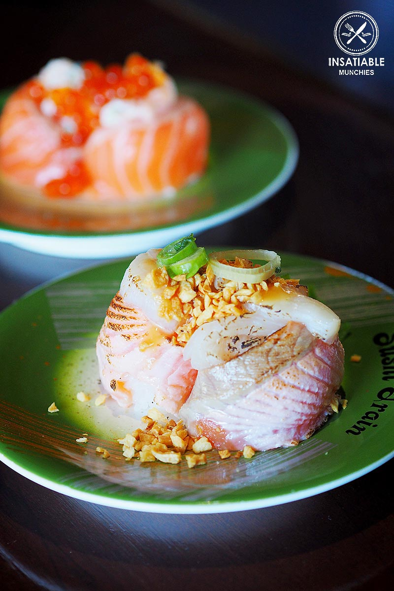 Sydney Food Blog Review of Sushi Train, Neutral Bay: Seared Salmon and Scallops with miso garlic