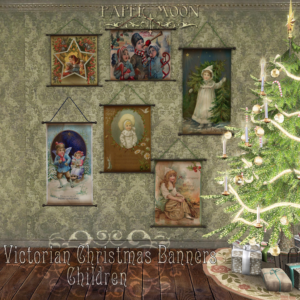 *pm* Victorian Christmas Banners - Children - SecondLifeHub.com