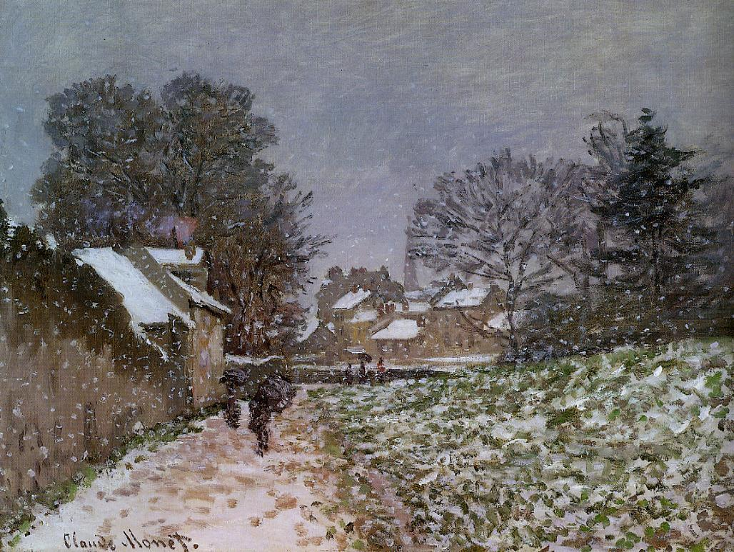 Snow at Argenteuil by Claude Oscar Monet - 1874-1875