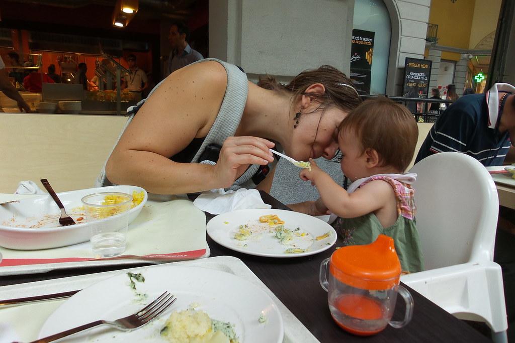 Il pranzo fuori casa con Adele Nina