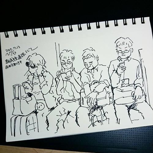 今日は久しぶりに長く電車に乗ったのでじっくりスケッチ #sketch_book #sketchtime