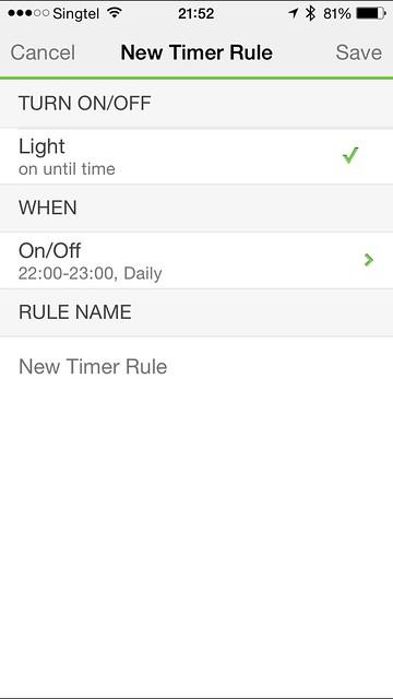 WeMo iOS App - New Timer Rule