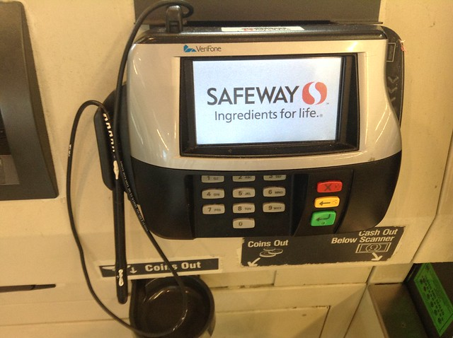 Safeway, Credit Card Swipe Device Machine Reader, Verifone