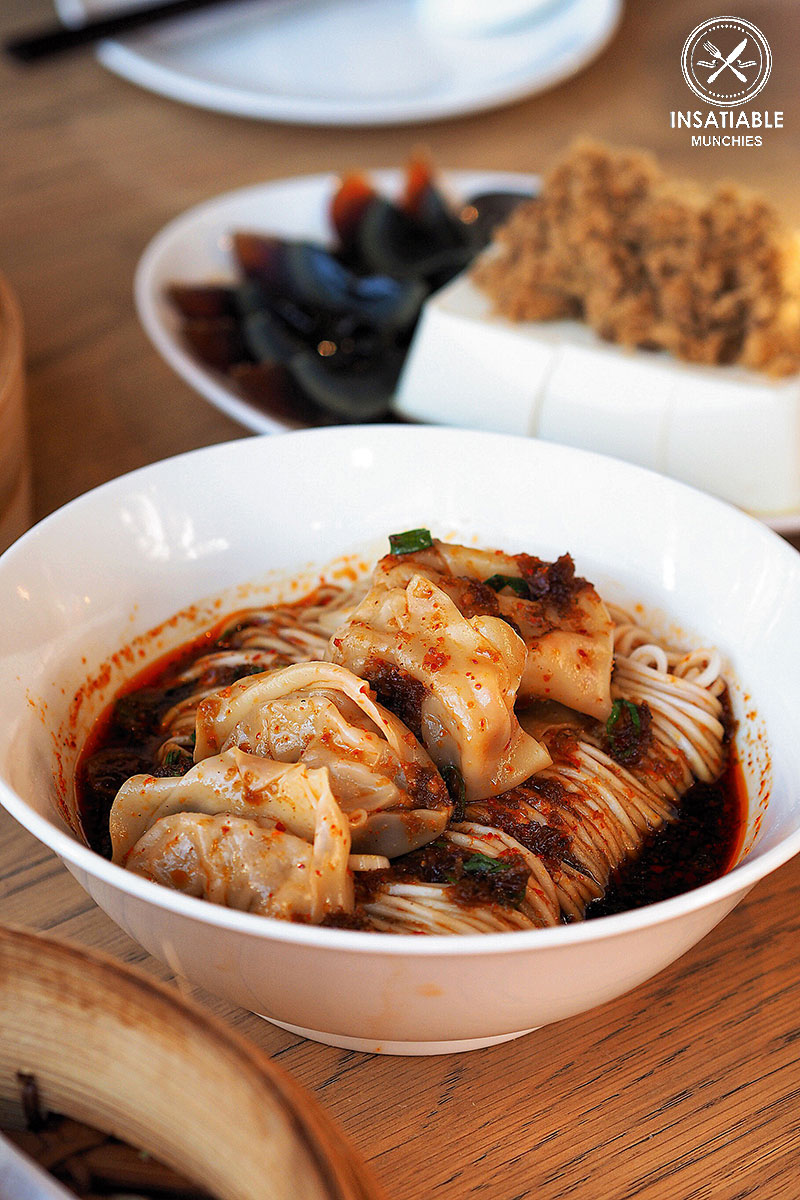 Sydney Food Blog Review of Din Tai Fung, Central Park: Spicy Shrimp and Pork Wonton with Dry Noodle