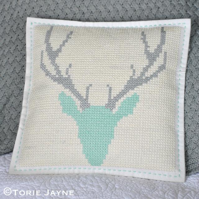 DIY cross stitch cushion 1